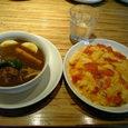 札幌『Massarra』チキンと野菜カレー&かけたまライス