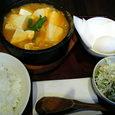 豚豆腐チゲ鍋定食