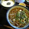 高尾山の山菜蕎麦&とろろご飯