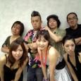 左後から)Kye.マッキー、Dr.松ちゃん、B,ホーリー、G.ヒルマリン