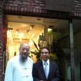 左から)安雲斎先生、塚越梦義先生