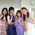 左から)里奈、小沢亜貴子さん、三代目コロムビアローズさん、西尾夕紀さん