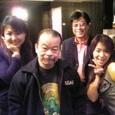 左から、里奈、佐藤蛾次郎さん、ロスプリモスの清里卓矢さん、佐藤絵美ちゃん